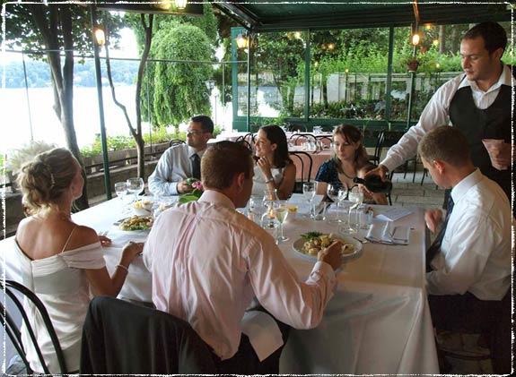 Tiny restaurant on the Isola San Giulio