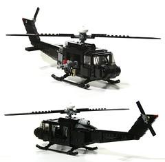 huey (WIP sort of) (psiaki) Tags: matrix army lego bell vietnam huey helicopter gunship iroquois moc uh1