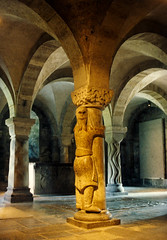 Lund Cathedral Crypt (kimbar/Thanks for 2 million views!) Tags: sculpture lund church cathedral sweden predigital scandinavia crypt finnthegiant