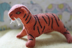 wildtiger1 (little love blue) Tags: life wild elephant art wool handmade tiger series handsewn etsy wildanimals