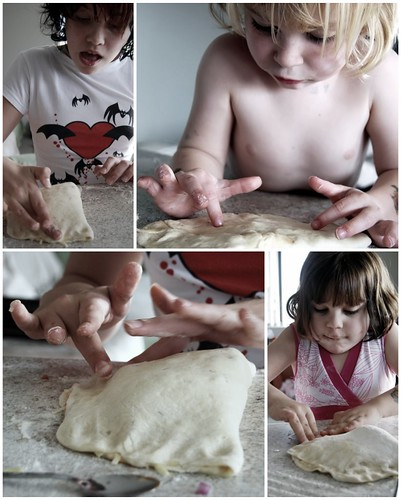 Making the Calzones