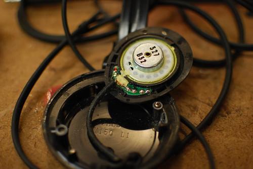 Headphone speakers taken apart 3