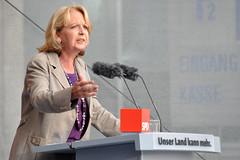Hannelore Kraft (SPD) beim Wahlkampf-Auftritt in Bochum