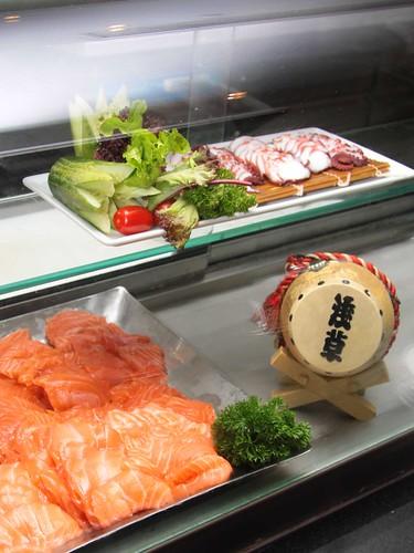 Salmon and Tako Sashimi