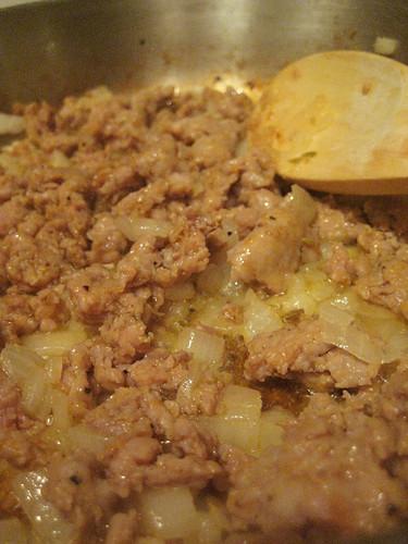 sausage 'n' onions.