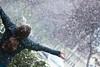 First Snow Fall (victoria.anne) Tags: winter snow gold october winnipeg hand bokeh fingers dani ring snowing 2009 wolseley ihatewinter andthecoldwinterswehaveinwinnipeg notreallywinteryet danivaillant