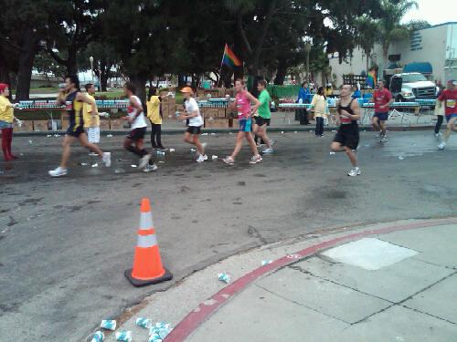 Long Beach Marathon at mile 9