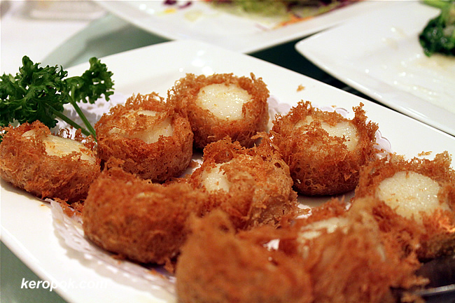 Mini Yam Rings with Scallops