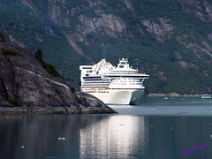 Golden Princess in Tracy Arm (wirralwater (NO MORE UPLOADS)) Tags: cruise usa mountain water stone alaska america golden boat ship arm princess united vessel tracy line american states of