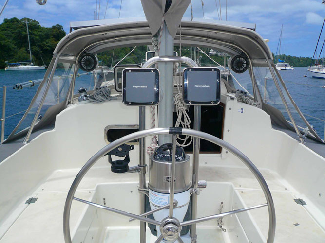 Looking forward from the transom.