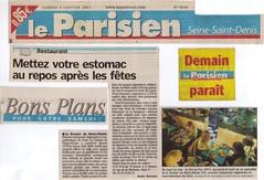Le Grenier de Notre Dame - Restaurant Végétarien - Le Parisien - 04/01/2003 - Agnès Dalbard