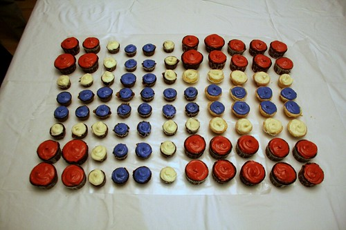Norwegian Flag Cupcakes