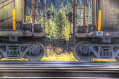 connected (Vinnyimages) Tags: trip canada train canon britishcolumbia tracks canon5d connected hdr blueriver 70200l vinnyimages wwwvinnyimagescom vinnyimagescom