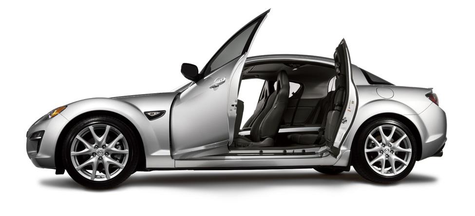 rear seat passengers Mazda RX-8