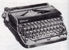 Calanda typewriter
