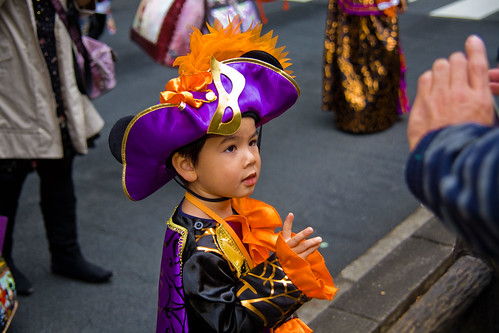 Mardi Gras/Pirate Kid at Halloween Parade by Buz Carter.