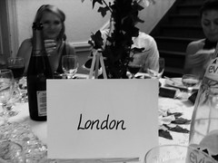 A table (lindscatt) Tags: wedding blackandwhite bw guests table places seating blacknwhite setting seated placecards tableplan tablename