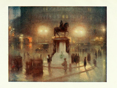 006-Pictures of London 1919-Trafalgar Square pintado por Arthur Hacker