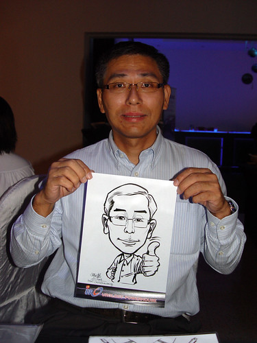 Caricature live sketching for GSK Urology Powerhouse -8