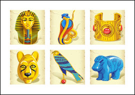 free Boy King's Treasure slot game symbols