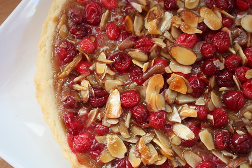 Caramel Cranberry Almond Tart 3