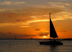 Sail Away (zoniedude1) Tags: ocean travel sunset sky beach beauty clouds sailboat hawaii evening paradise pacific waikiki oahu adventure explore stunning tropical honolulu relaxation sailaway canonpowershota720is zoniedude1