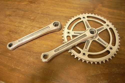 DURA-ACE crank 165mm NJS x Sugino Mighty Competition 48T BIA