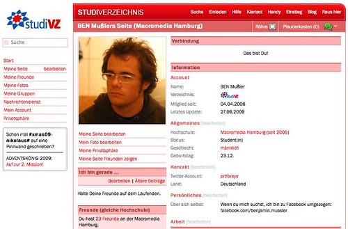 StudiVZ Profil
