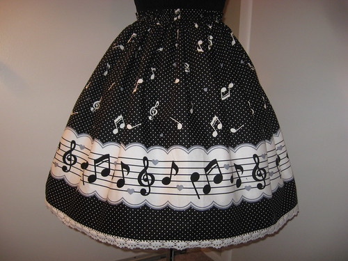 Music Note Border Skirt 002