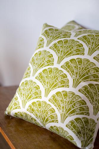 lace fans cushions
