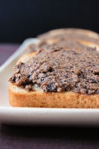 cheddar and tapenade toasts