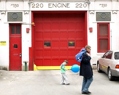 E220 FDNY Firehouse Engine 220, Park Slope, Brooklyn, New York City (jag9889) Tags: park county city nyc house ny newyork building station architecture brooklyn truck fire engine parkslope company kings borough ladder firehouse fdny 2009 department firefighters slope 122 220 bravest e220 engine220 ladder122 y2009 jag9889