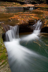 Splash (blypix) Tags: park autumn orange ny fall waterfall exposure state finger lakes upstate glen gorge watkins blend bly2k blypix binhlyfineartforsale wwwblypixcom