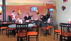 the burger club - interior