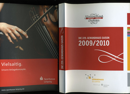 Leipzig Gewandhaus Orchestra: 2009-2010: 229th Season Catalog / 2009-12-22 / SML (by See-ming Lee 李思明 SML)