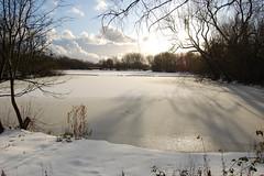 Casting shadows. (tower62pool) Tags: uk shadow sky sun lake snow nikon lancashire shade stanleypark blackpool boatinglake d40 nikond40
