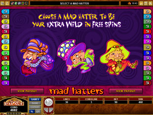 free Mad Hatters free spins