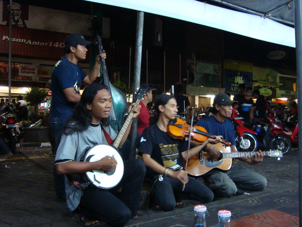 A Street Band in Malioboro Street