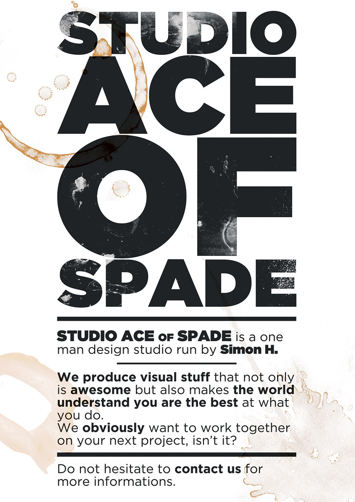 Studio Ace of Spade - Poster - February 2010 - A3 format