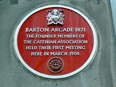 Photo of Catenian Association red plaque