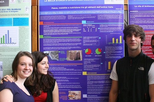 Proud students at their poster