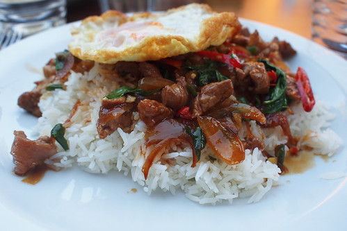 Stir-fried pork and egg