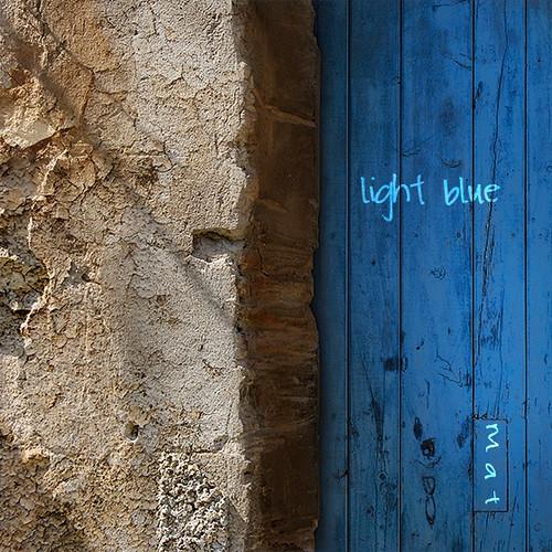 Blue door in rural