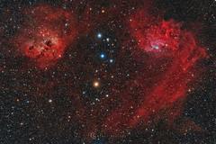 Flaming Star (Claus Steindl) Tags: canon eos 6d 6da astromodified skywatcher heq5 pro lacerta mgen ed72432 flaming star auriga ic405 ic410 astrophotography night sky stars astrometrydotnet:id=nova1940712 astrometrydotnet:status=solved
