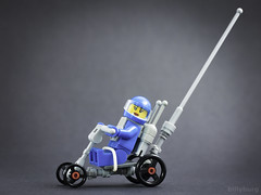 Soap Box Racer Rover (billyburg) Tags: lego classic space blue soap box racer astronaut girl gravity febrovery everything is awesome