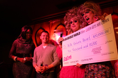 Big check for the big winner!