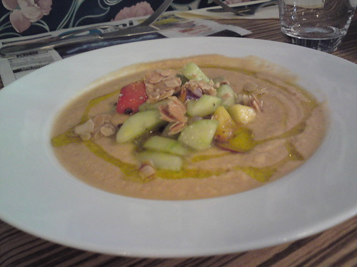L'Office: Melon gaspacho with cucumber and peach