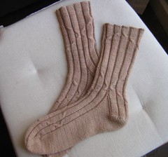 Freshman Cabled Socks
