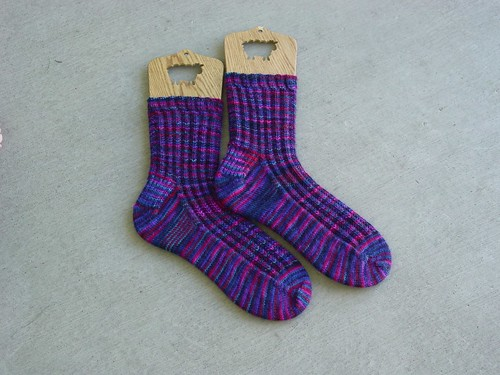 Seeded Ribbing Socks