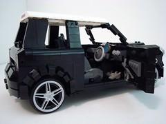 2005 Mini Cooper S (Lino M) Tags: 2005 new white black english car modern lego mini s millennium cooper bmw martins lino lugnuts marvels